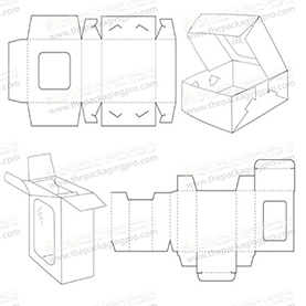 window style carton box template