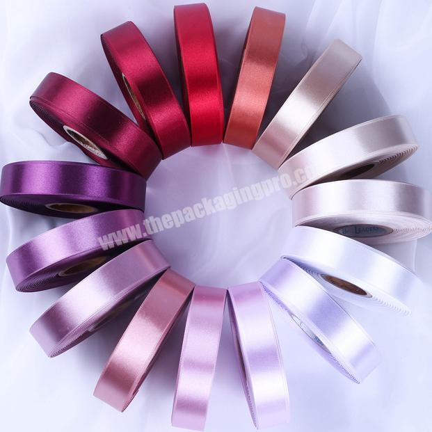 Custom 100% polyester  colorful satin ribbon for gift packing