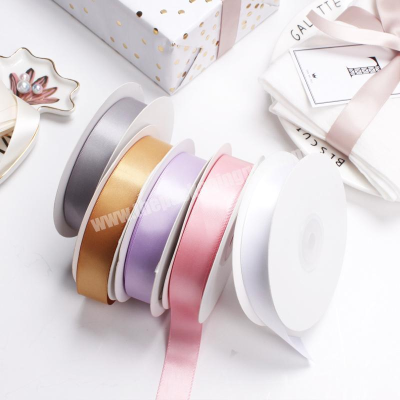 Shop 100% polyester  colorful satin ribbon for gift packing