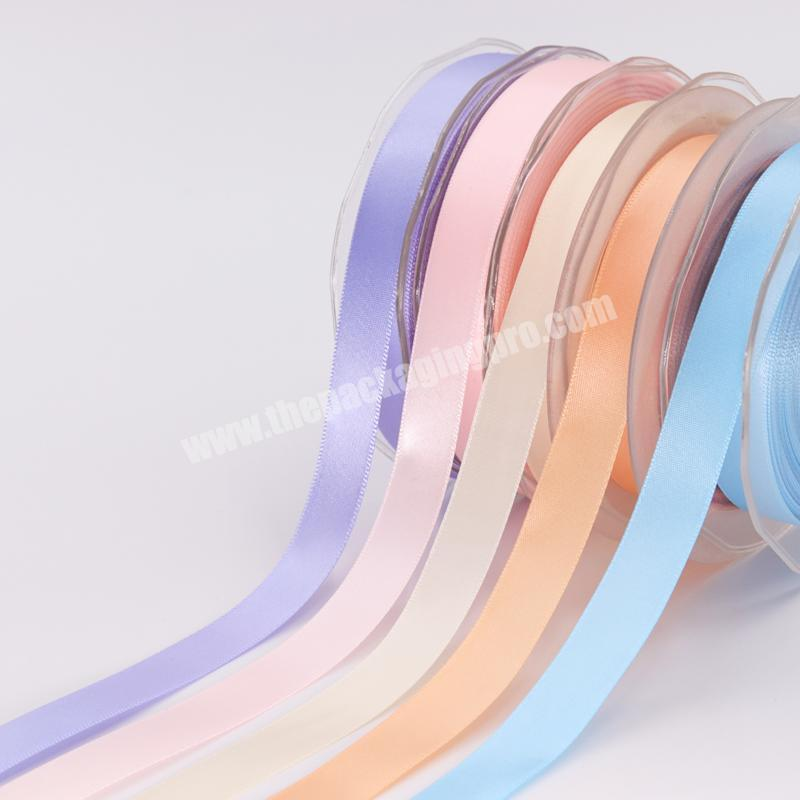 Wholesale 100% polyester  colorful satin ribbon for gift packing