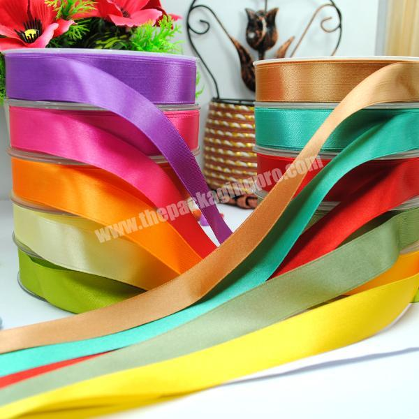 Supplier 100% polyester  colorful satin ribbon for gift packing