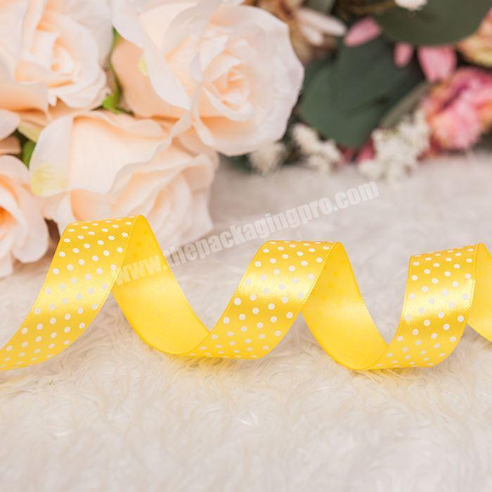 Factory 100% Polyester Pretty Printed Silk Satin Ribbon Party Decoration