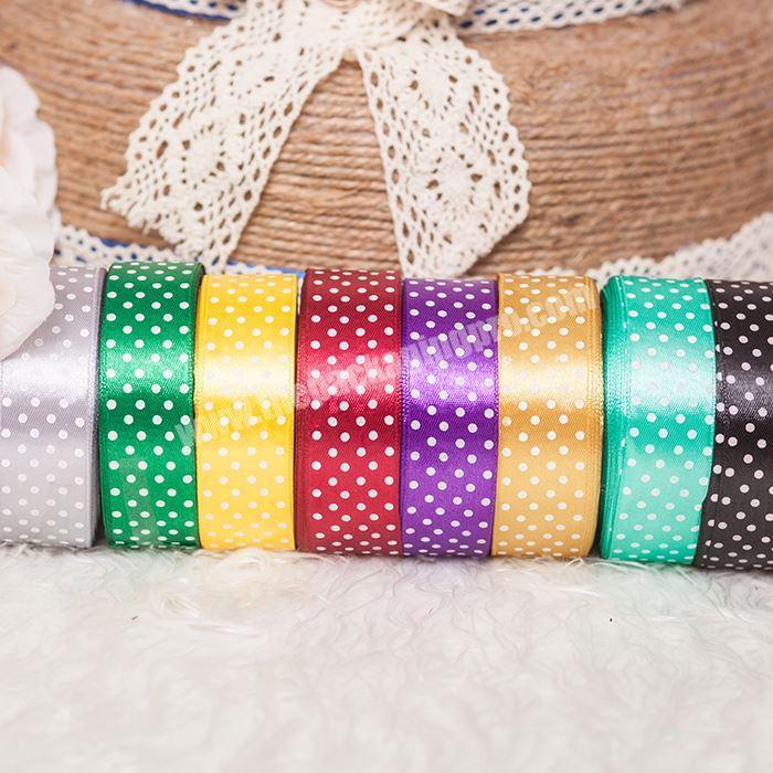 Manufacturer 100% Polyester Pretty Printed Silk Satin Ribbon Party Decoration