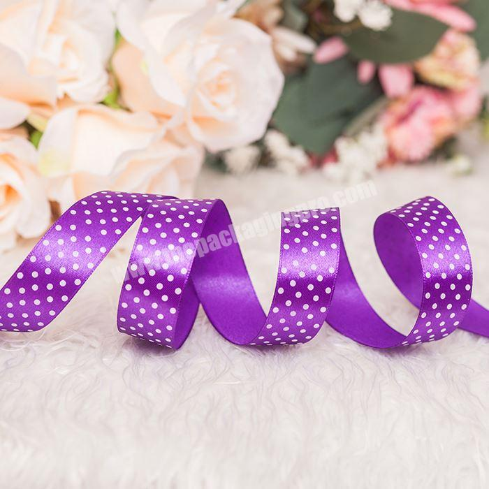 Supplier 100% Polyester Pretty Printed Silk Satin Ribbon Party Decoration
