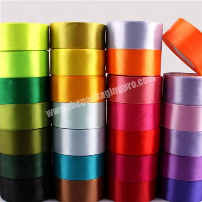 Factory 18 inch to 4 inch  double and single  face 100% polyester satin ribbon for all kind of occasion