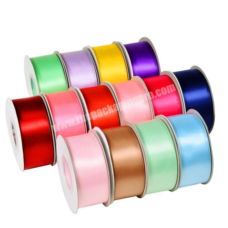 Factory 18inch to 4 inch high quality  double and double  face 100% polyester  colorful satin ribbon for all kind of occasion