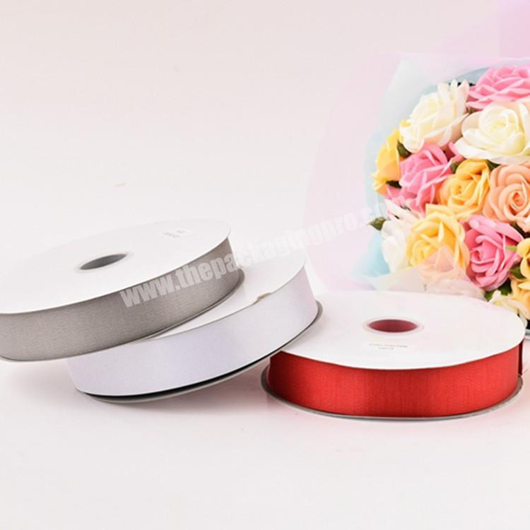 Shop 18inch to 4 inch high quality  double and double  face 100% polyester  colorful satin ribbon for all kind of occasion