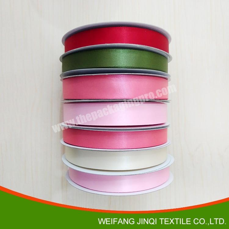 Manufacturer 18inch to 4 inch high quality  double and double  face 100% polyester  colorful satin ribbon for all kind of occasion