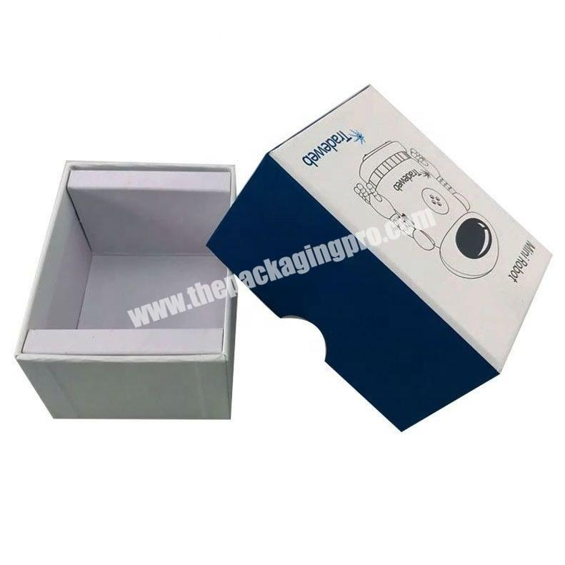 2 pieces lid and base cardboard printed electronic products box with paper inlay