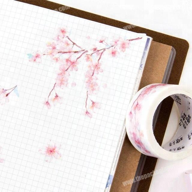 Factory 2018 fashion design Romantic cherry blossoms washi paper tape custom printed