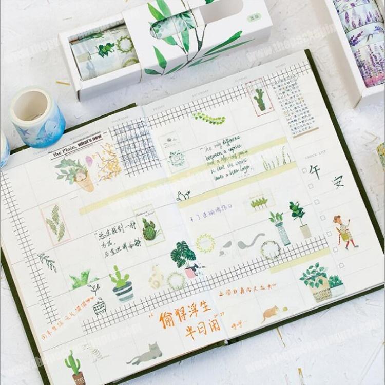 Wholesale 2018 Hot sale wonderful life custom masking printed washi paper tape