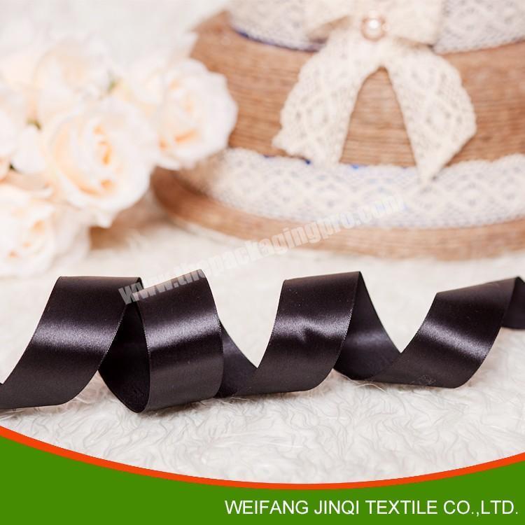 Shop 2019 best sale  double faced black satin ribbon