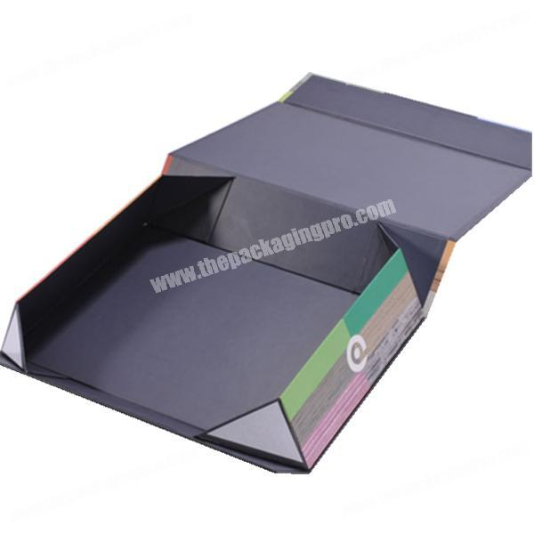2019 Custom magnet folding paper flat pack box luxury magnetic woman dresses gift packaging boxes with