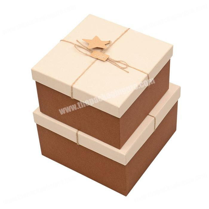 2019 High end  luxury leather art paper custom jewelry gift lid off packaging gift box