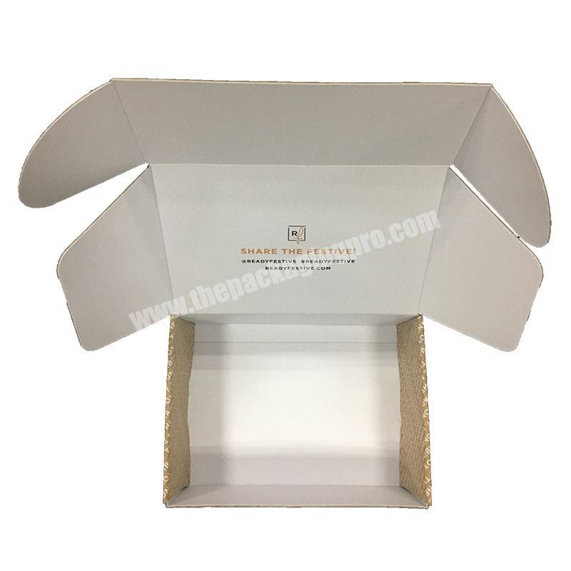 2019 Popular Wholesale Custom Mailer Box Tuck Top Printed