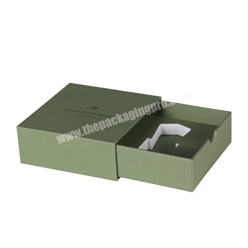 2020 Custom cardboard paper drawer gift box for perfumeessential oilcosmetic