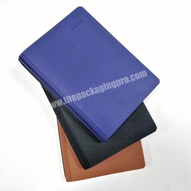 2020 Customized Logo A5 PU Leather Cover Journal School Notebook Set For Student