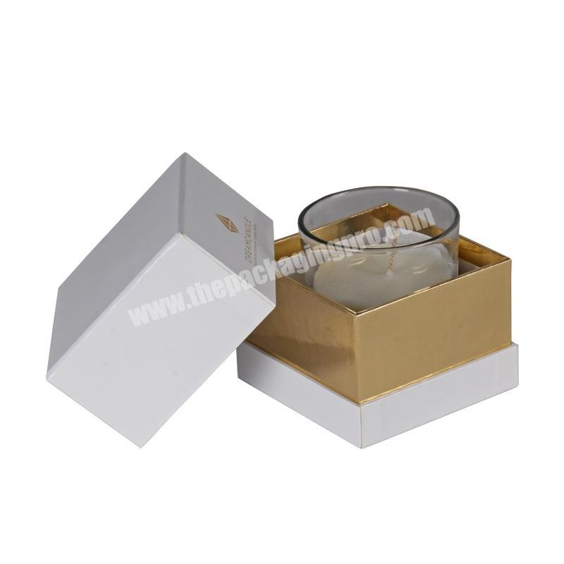 2020 fashion customized candle box luxury jar box small decorative cardboard box