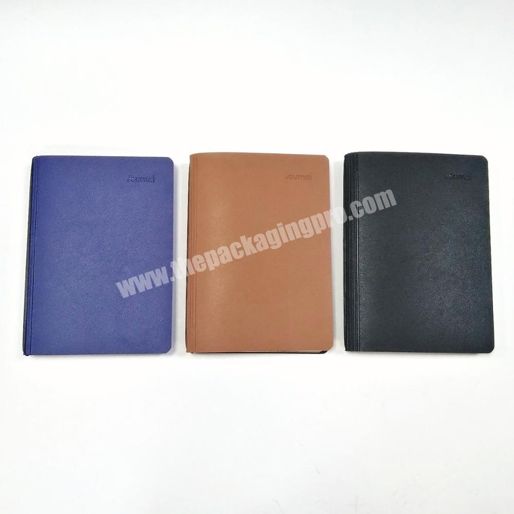 Wholesale 2020 High quality business notebook customized diary pu leather planner