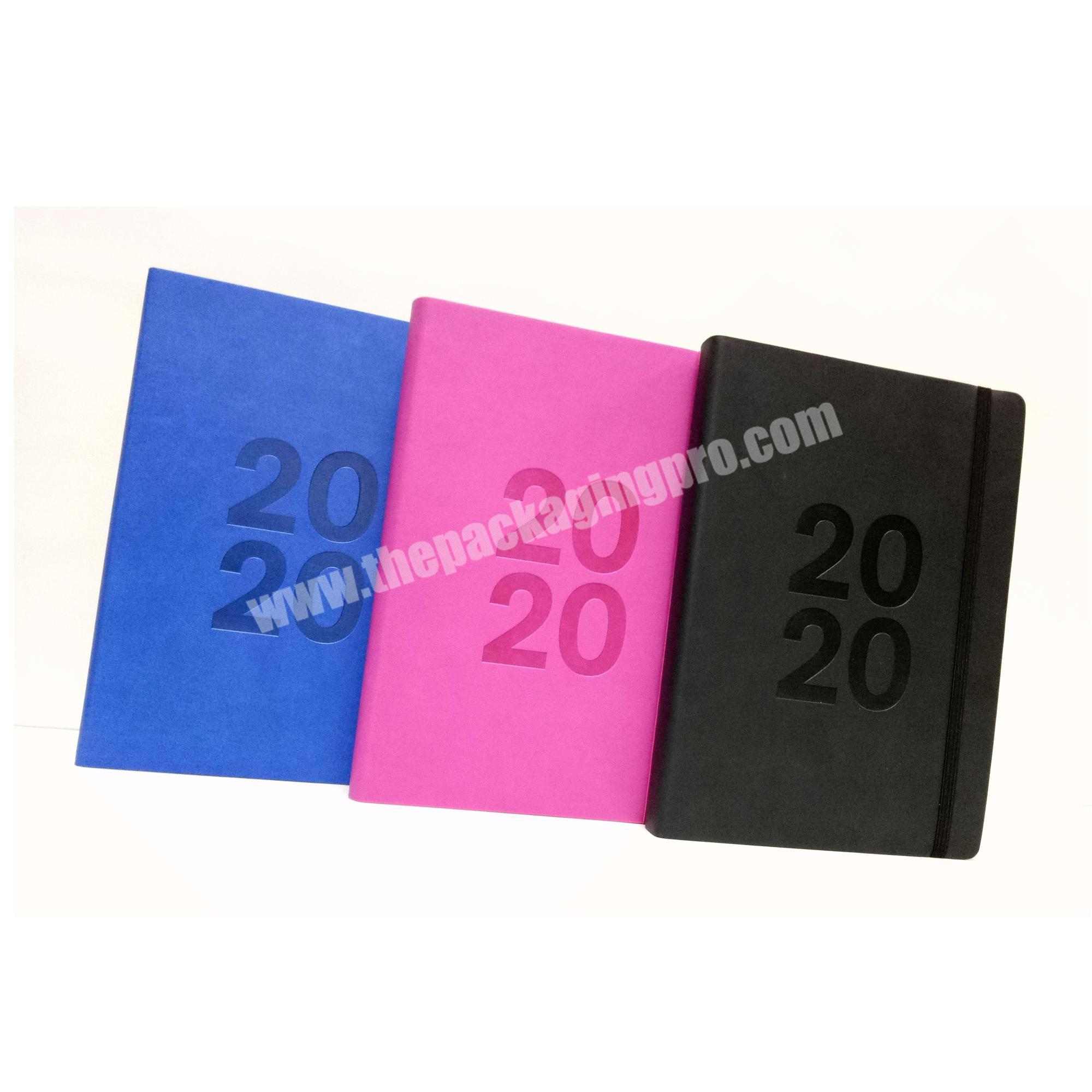 Wholesale 2020 High Quality Printed Edge A5  Notebook Custom Logo Leather Cover Diary