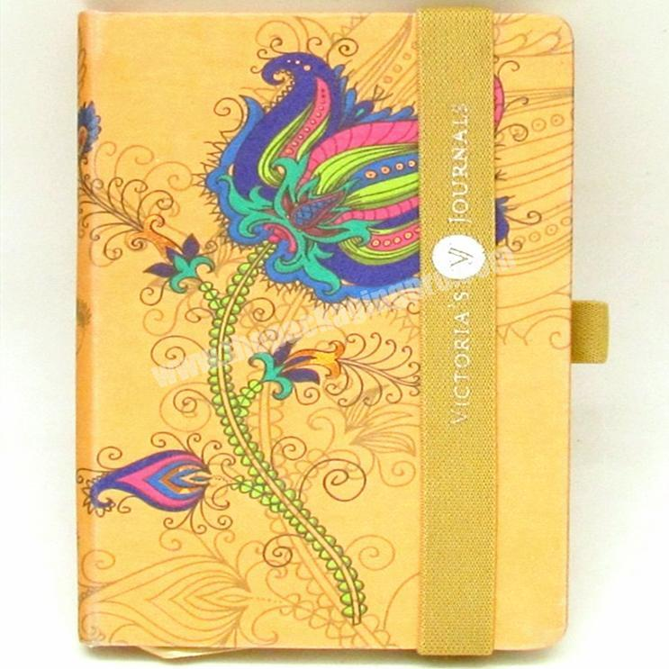 2020 Luxury A5 PU Leather Notebook  Fashionable Printed Hardcover Diary