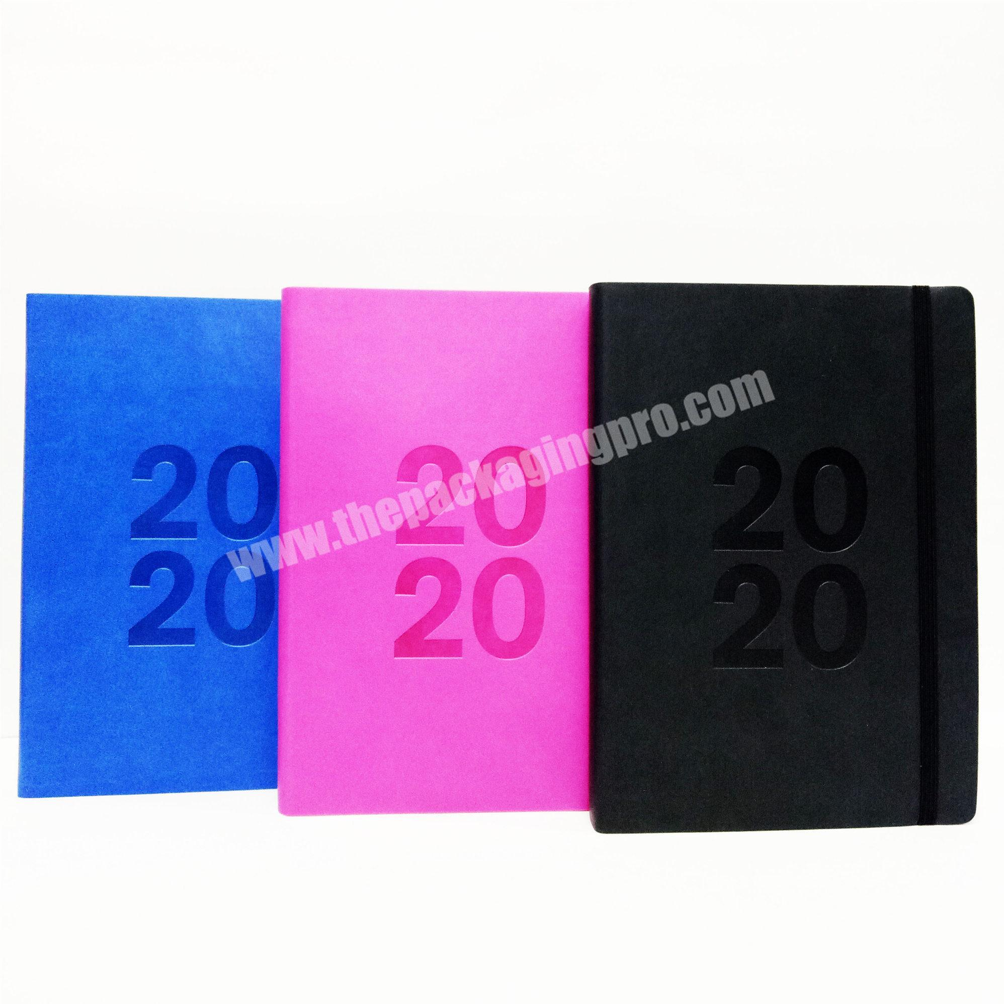 2020 Multiduty Leather Custom Logo Business Notebook Exercise Diary