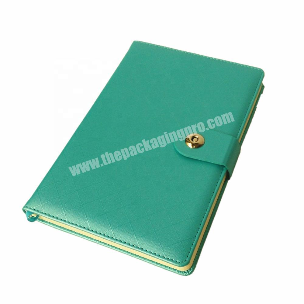 2020 Promotion Leather Cover Notebook Customized Pages Planner Personal Diary with Button