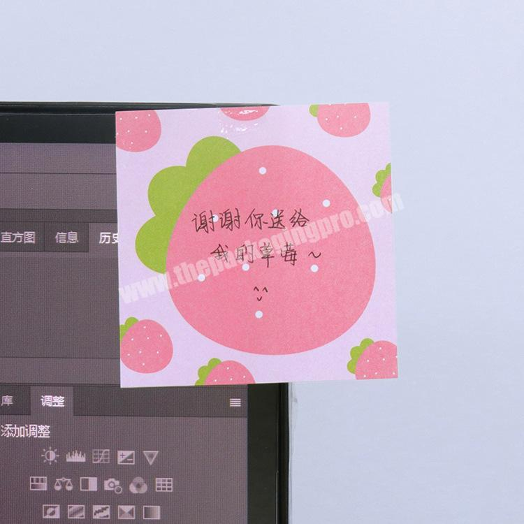 2020fancy stationery hot selling cute custom note pad sticky Cute Korean Stationery Kawaii shaped notes