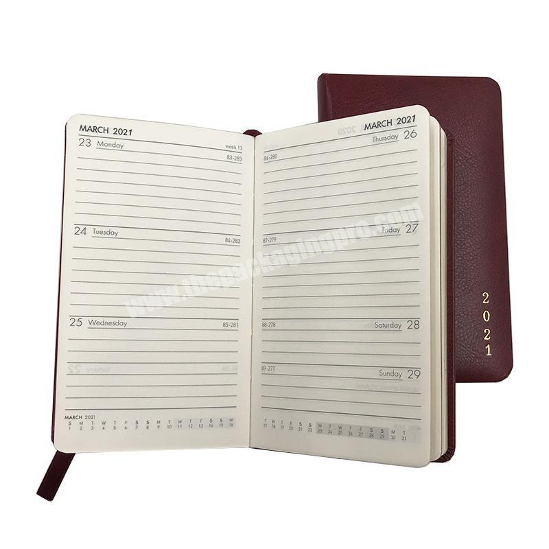 2021 Custom Cute Daily Weekly Monthly Year Journal Planner With Edges Gold Gilt Foiling