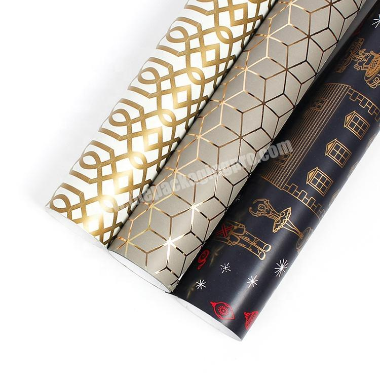 Factory 2020 new custom logo printed gold clothing recycled gift packaging tissue wrapping paper with wholesale cost