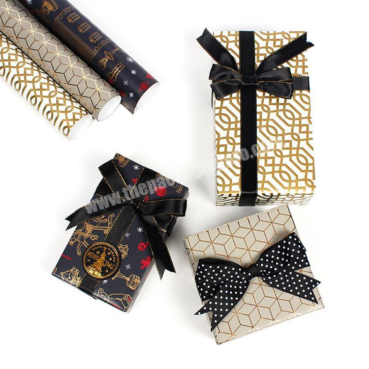 Manufacturer 2020 new custom logo printed gold clothing recycled gift packaging tissue wrapping paper with wholesale cost
