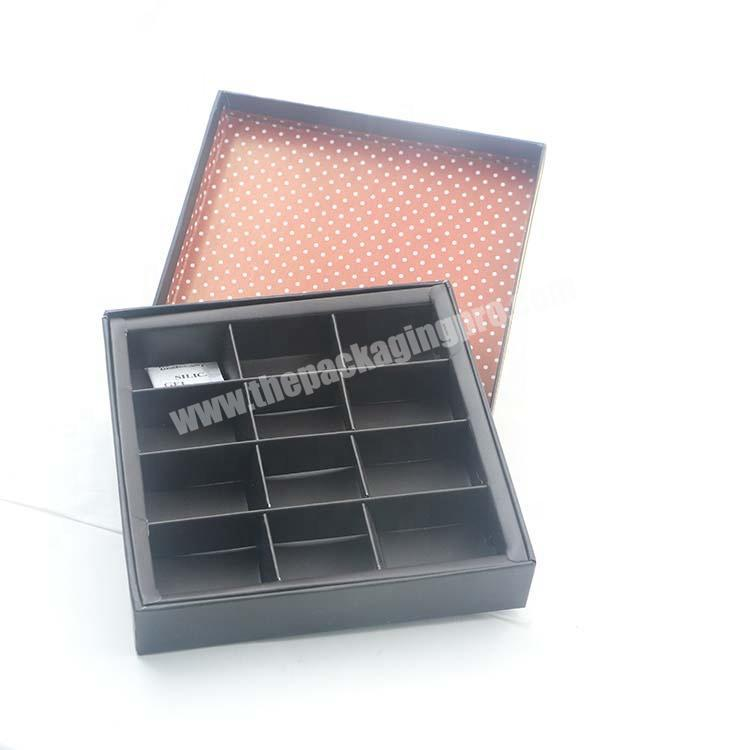 Black Rigid Chocolate Box Packaging  With Tray