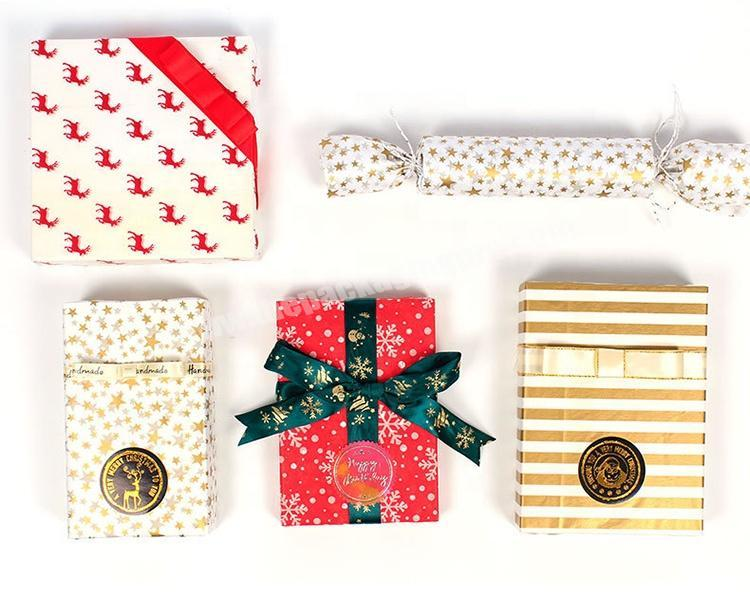 Custom Different Design Biodegradable Gift Tissue Christmas Packaging Paper