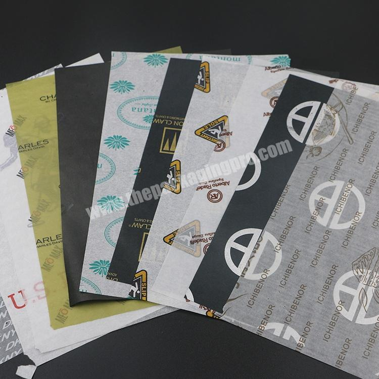 Custom 17gsm Black Custom Printed Tissue Wrapping paper