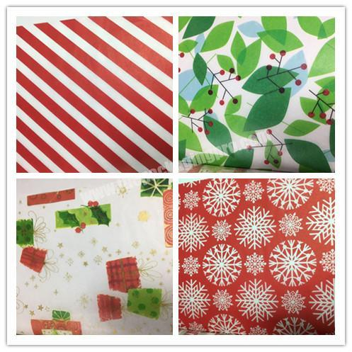 Supplier Different Design Biodegradable Gift Tissue Christmas Packaging Paper