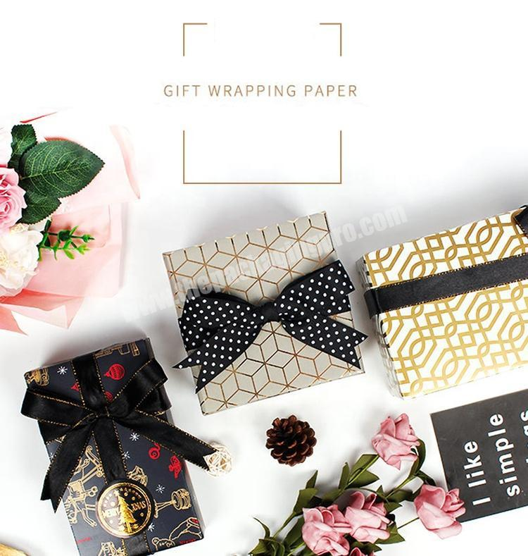 Supplier 2020 new custom logo printed gold clothing recycled gift packaging tissue wrapping paper with wholesale cost