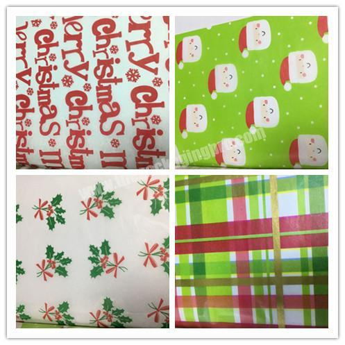 Factory Different Design Biodegradable Gift Tissue Christmas Packaging Paper