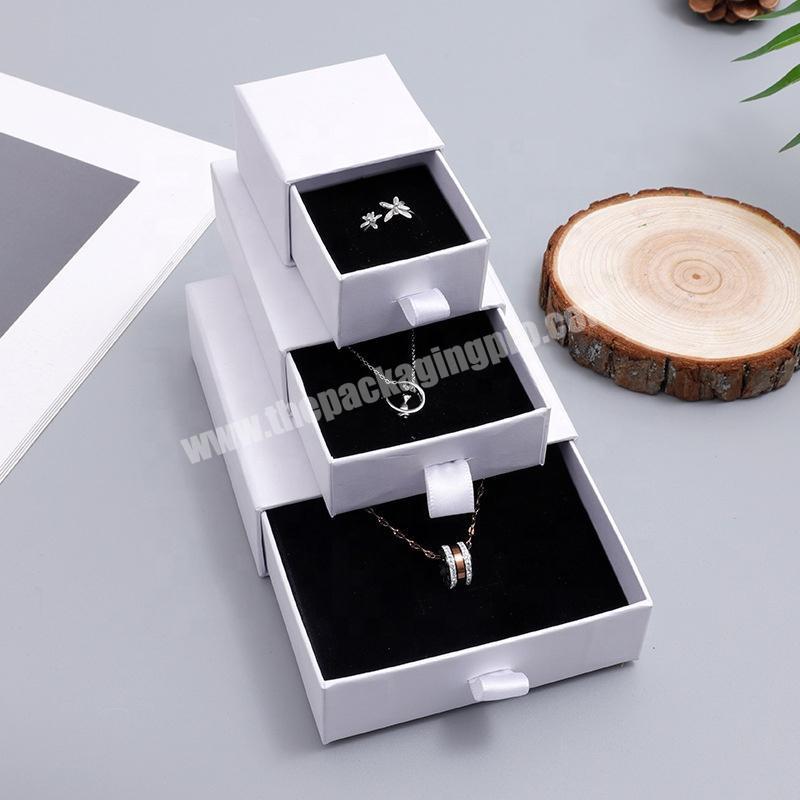 Custom White Box Drawer Packaging Jewellery Girls Jewelry Box