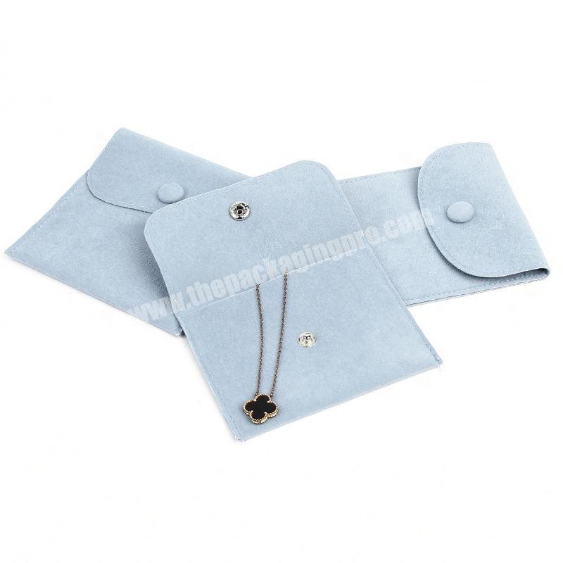 Simple Fashion Velvet Packaging Bag Necklace Rings Velvet Pocket Envelope Velvet Jewelry Bag