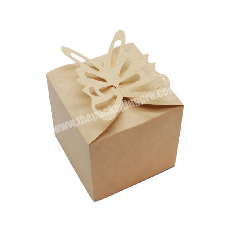 Customized branded top quality eco-friendly brown kraft paper cake packaging box with lining
