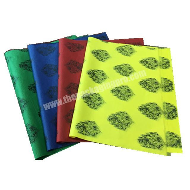 Manufacturer HXM Custom Brand Printing Black Wrapping Tissue Paper with Logo