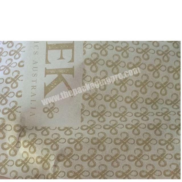 Wholesale 17gsm 22gsm silk paper custom color printing tissue wrapping paper for apparel packaging