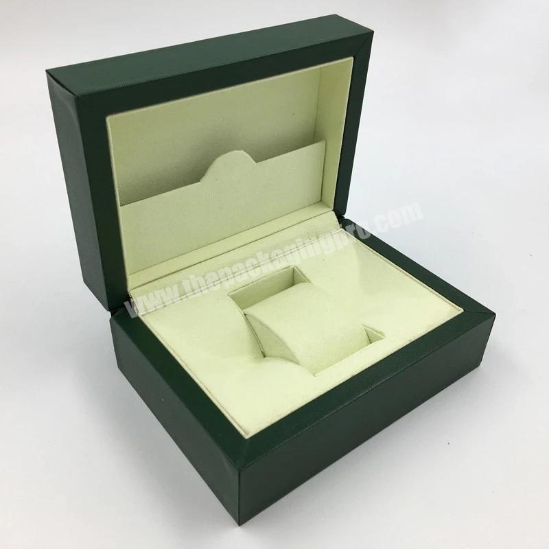 Personalized Leather Watch Box Leather  Packaging  Box For Watch With Pillow Inside