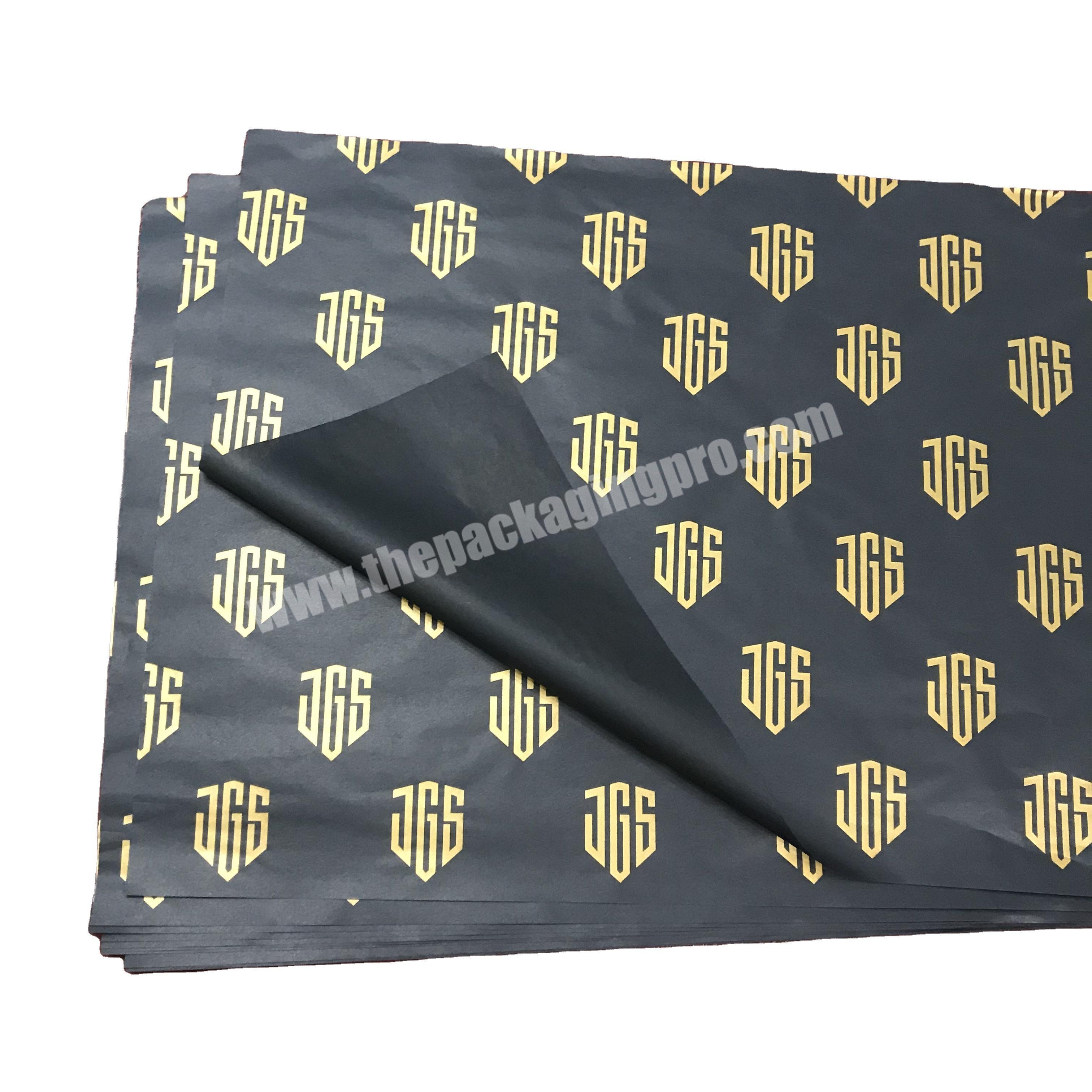 Custom Free design branded clothing black tissue paper