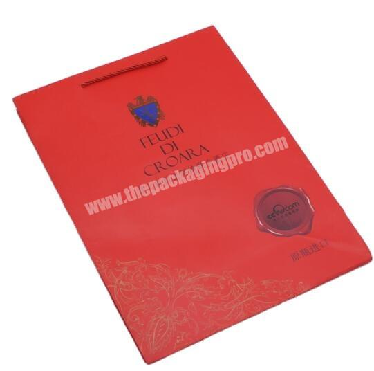 Custom China manufacturer Gift bag with hand tag Gift bag with printing
