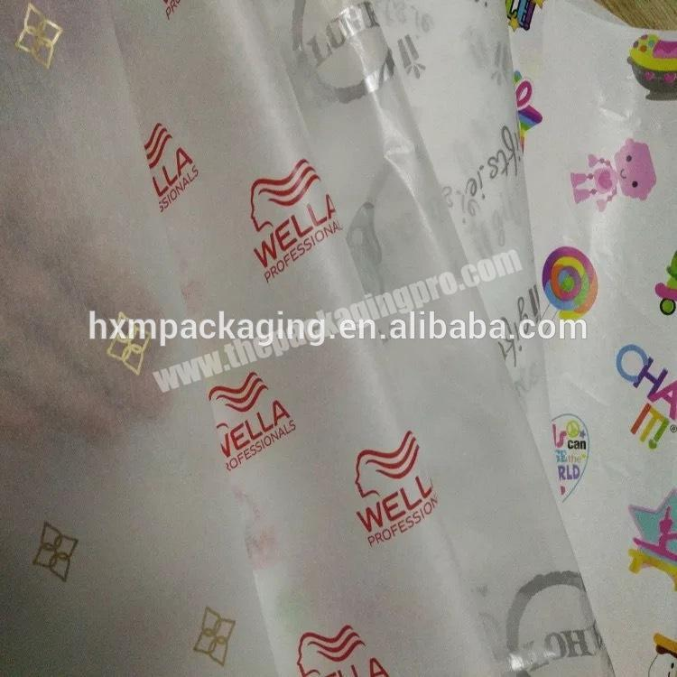 Wholesale Custom Logo Printing tissue wrapping paper for Packing high quality  Custom  gift wrapping paper