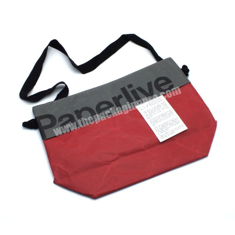 Custom Popular new custom red gift packaging gift bags with logo print simple paper bags with handles for gift