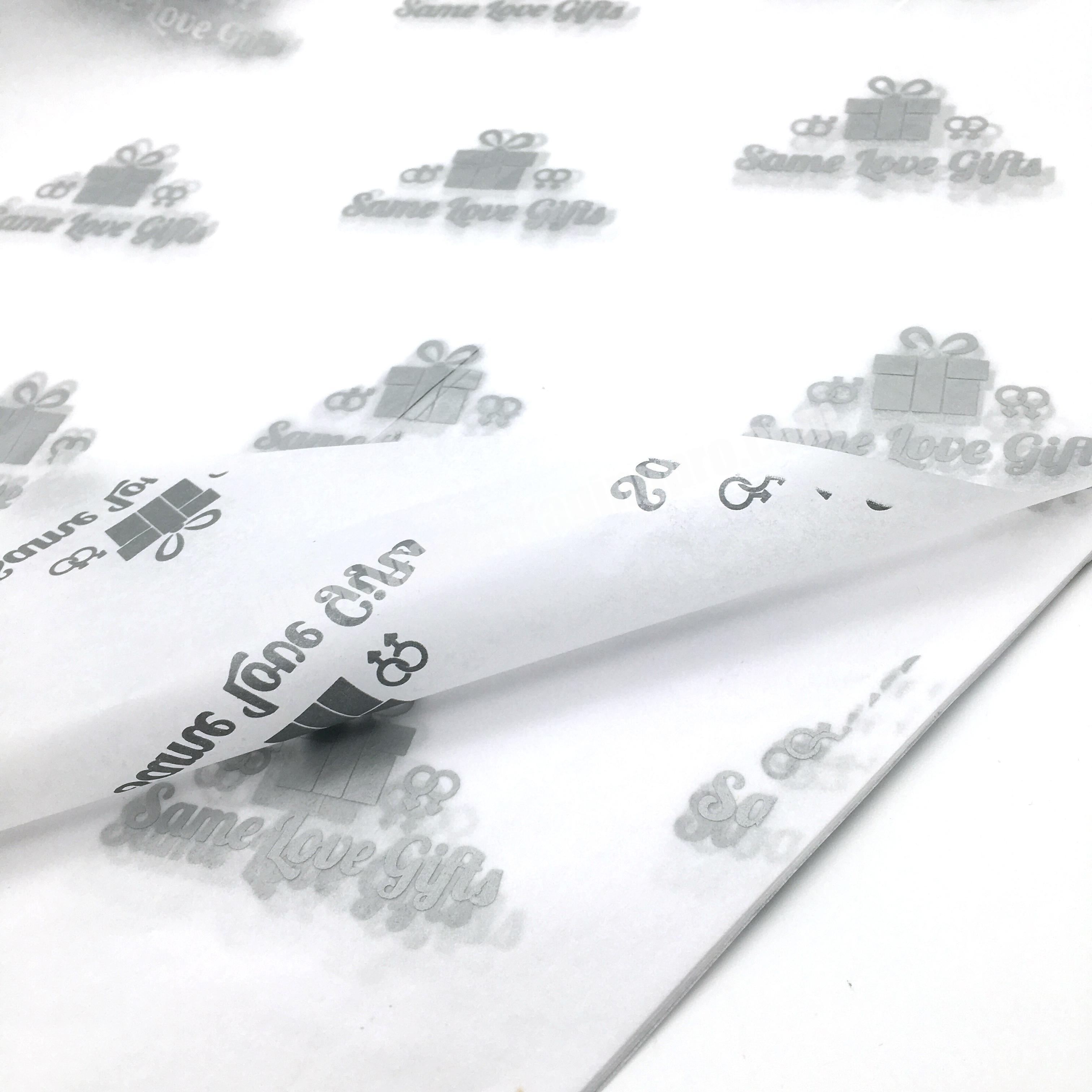 Supplier Popular Fancy white silk paper Clothes Wrapping Tissue paper with silver logo