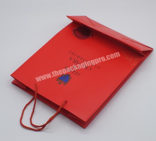 Shop China manufacturer Gift bag with hand tag Gift bag with printing