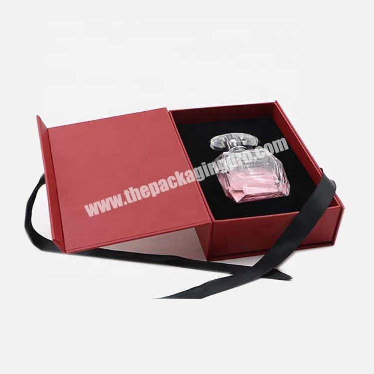 Shop 2020 50ml Custom Red  Perfume Gift Cosmetic Paper Box With Ribbon